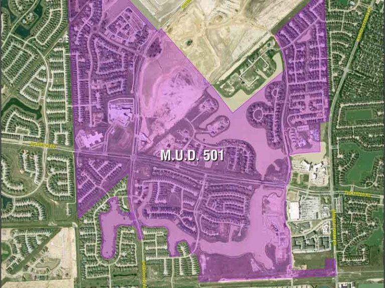HCMUD 501 District Map
